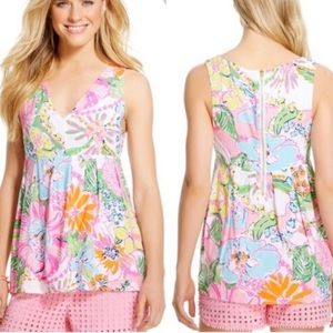 Lily Pulitzer Top Nosey Posie
